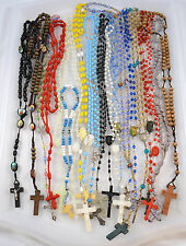 Rosary LOT of 21 Assorted Rosaries Glow in Dark Plastic Wooden NICE Lot #2837