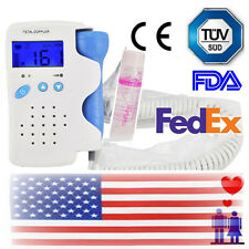 Fetal Doppler Heart Detector Baby Sound Heart Beat Rate Monitor 3Mhz Probe-In US