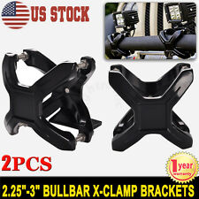 2.25-3 inch Bull Bar Roll Cage Mount Bracket X-Clamps for LED Light Bar Offroad