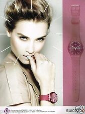 Publicité advertising 2011 La Montre Swatch