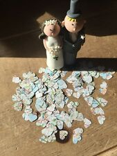 1000 ROMANTICO VINTAGE UK Road Map LIBRO Heart Wedding tavolo confetti-1.5 cm