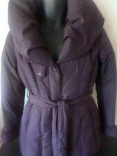 Coffee Shop - PURPLE Pillow Collar Goose Down Coat - MEDIUM - Womens