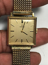 Super Nice Vintage Men's Omega 625 14K Gold Case 17 Jewel Analog Watch