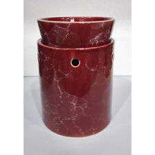 Tall Red Marbled Ceramic Electric Scented Oil Tart Candle Burner/Warmer Light