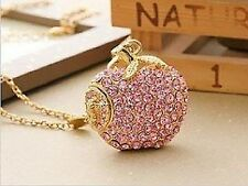 USB Stick 2 GB 2GB in Luxury Jewellery Pendant Apple Gadget Rhinestone Gift