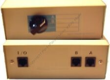 RJ45 Network/Ethernet AB 2way/port switch box 8P8C,use with Cat5e Cat6$SHIP DISC