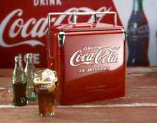 New Reproduction Classic Coca Cola Cooler Picnic Ice Chest