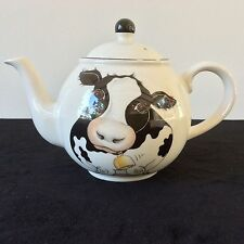 ARTHUR WOOD COW TEAPOT TEA COFFEE POT HOLSTEIN FRONT BACK DESIGN MADE IN ENGLAND