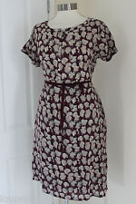 size 12 purple and beige belted dress from white stuff brand new