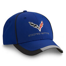 C7 Corvette Blue Performance Hat Embroidered Polyester Chevy