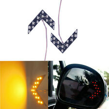 2X Amber 14 SMD LED Arrow Panel Rear View Mirror Turn Signal Indicator Lights