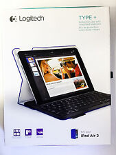 Logitech Type+ Wireless Bluetooth Keyboard Folio Case iPad Air 2- Electric Blue