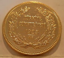 Turkey 1972 (1923/48) Gold 500 Kurush Unc Low Mintage - 6,060 Coins Issued