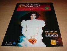 PJ HARVEY - WHITE CHALK!!!!!!!!!!!!!!PUBLICITE / ADVERT