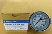 Ashcroft 0-400 psi 50 1008SL 02B XUC 400 2in face 007 Line Glycerin filled Guage