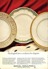 1966 Royal Doulton Eng. Bone China Sovereign-Royal Gold-Fontainebleau PRINT AD