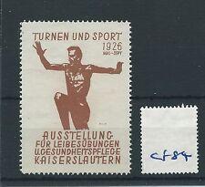 wbc. - CINDERELLA/POSTER - CF84 - EUROPE - TURNEN UND SPORT 1926