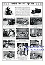 Gasmotorenfabrik Deutz XL Reklame in französisch von 1908 Turbine Lokomotive + f