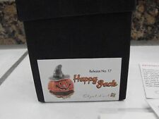 Objet d'art  Maize #17 Happy Jack Pumpkin  Trinket Box enamel jeweled Art Form