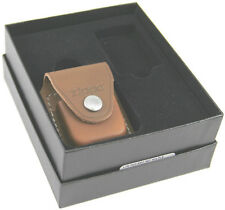 Zippo Lighter Gift Set w/ Brown Leather Pouch LPGS-LPLB