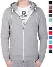 New Plain Mens Hoodie Fleece Zip Up Hoody Jacket Sweatshirt Hooded Zipper Top.