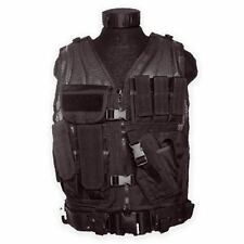 Airsoft USMC Tactical Combat Assault Vest Military Police Holster Pouches Black