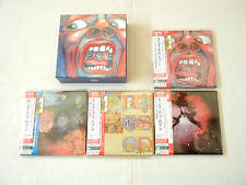 "King Crimson JAPAN 4 titles Platinum SHM-CD + DVD-AUDIO 7""Mini LP BOX SET"