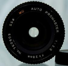 Nice PROMASTER AUTO MC 28mm f1:2.8 Wide Angle Lens M42 Screw Mount