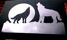 high detail airbrush stencil howling wolves FREE UK  POSTAGE