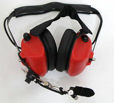 Noise Cancelling Pilot Headset for Motorola Radio 2PIN GP68 CP150 GP88 CP200 RED