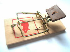 1x WOODEN TRADITIONAL REUSABLE BAIT SPRING SPRUNG MOUSE MICE CONTROL VERMIN TRAP