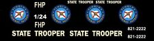 FLORIDA HIGHWAY PATROL Police 1/25th - 1/24th Scale Waterslide Decals