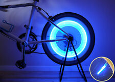 New Super Bright Bike Bicycle Wheel Valve Tire Spoke LED Light Magnet Base-Blue