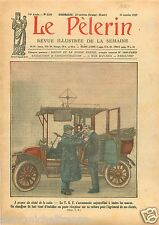 Radio T.S.F. Chauffeurs de Taxi Clients Paris France 1927 ILLUSTRATION