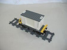 Lego CITY TRAIN: FLATBED RAILCAR &  CONTAINER w/ DOORS...VG