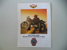 advertising Pubblicità 1990 HARLEY DAVIDSON OROLOGIO WATCH