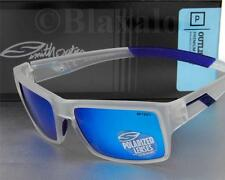 NEW SMITH OUTLIER POLARIZED SUNGLASSES Matte Clear frame / Blue Mirror lens