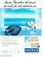PUBLICITE ADVERTISING 116  1994   Matra   téléphone sans fil  Nautila