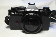 Olympus OM-2 Spot / Program 35mm Camera with Ins Books Case & Cap No 127960