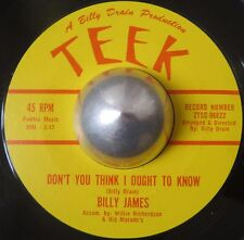 RARE POPCORN R&B BILLY JAMES Don't you think I ought to know TEEK LISTEN