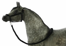 Model Horse Halter and Lead Rope Black. Fits Traditional Sized Breyer