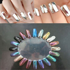 12 Colors Magic Mirror Chrome Plating Shiny Effect Metallic Powder Nail Glitter