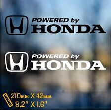 Powered by Honda car decal sticker vinyl racing JDM japan window bumper emblem
