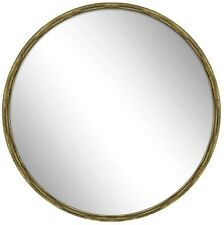 X LARGE NEW Distressed Vintage Antique Gold Metal Hanging Round Wall Mirror
