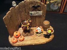 WEE FOREST FOLK SPECIAL CUSTOM  HALLOWEEN DISPLAY ADD YOUR OWN WFF ONLY 4 MADE