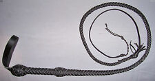 NWOT  4 Foot Long 8 Plait BLACK Leather Stuntman BULL WHIP