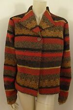 Coldwater Creek Multi-color Long Sleeve Jacket Top Woman Size L