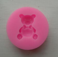 MINI BEAR SHAPED  SILICONE MOULD FONDANT CAKES SOAP CANDLES DECORATION