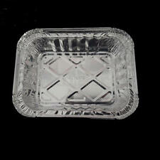 10 PCS Take Out Takeaway Food Box Aluminum Foil Container Storage