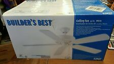 "Brand New Never Used Builders Best 52""White Ceiling Fan 53937"
